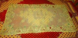 Antique Tablecloth 1945's, Ottoman Palace In Egypt, Royal Embroidered Mattress