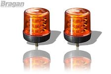 2x Amber Lens Amber LED Strobe Flashing Beacon Recovery Truck Bolt