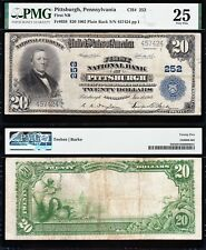 NICE Bold & Crisp VF 1902 $20 PITTSBURGH, PA National Banknote! PMG 25! 457424