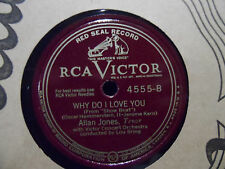 Allan Jones - Make Believe / Why Do I Love you 78 record Victor Concert Orch