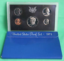 1971 United States Mint Annual 5 Coin Proof Set with Original Box