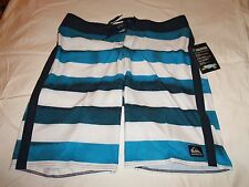 """QUIKSILVER """"CYPHER"""" BRIGG SWIM/SURF/BOARD SHORTS color -Navy/White size 38"""