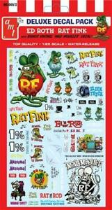AMT MKA 45 Ed Roth's RAT FINK Graphics Decal Set Sheet 1/25
