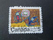 "CANADA STAMPS  #522iii 1970  USED ""CHRISTMAS"" DOT BETWEEN M+A VARIETY"