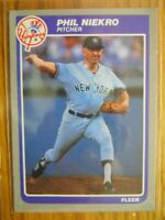 1985 FLEER CARD # 138 PHIL NIEKRO