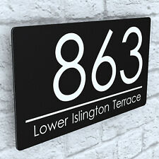 More details for modern house plaques / plaque / door / number / floating effect / wall sign