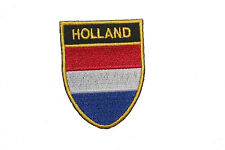 HOLLAND COUNTRY FLAG OVAL SHIELD FLAG EMBROIDERED IRON-ON PATCH CREST BADGE