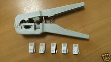 BT431a 631A Crimping Crimper Tool Telephone Plugs + 5 BT Replacement Connectors