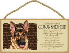 ADVICE FROM A GERMAN SHEPHERD wood SIGN wall hanging PLAQUE puppy dog NEW