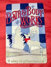 """BATH & BODY WORKS GIFT CARD """"REINDEER IN SNOW"""" HOLIDAY 2018 NO VALUE NEW"""