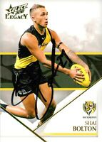 ✺Signed✺ 2018 RICHMOND TIGERS AFL Card SHAI BOLTON