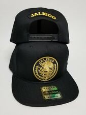 JALISCO   MEXICO  BASEBALL HAT BlACK 2LOGOS  SNAP BACK ADJUSTABLE  NEW