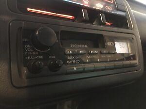 92-95 Civic EG ACCESS CASSETTE RADIO HEAD UNIT ESTILO SR3 SR4 EG6 EG9 OEM RARE