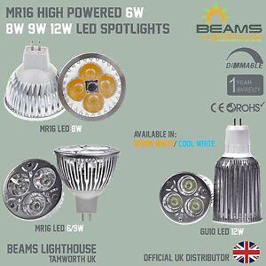 UK MR16 DIMMABLE 6W 8W 9W Energy Saving Warm/Cool White LED Light Bulb Spotlight