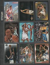 REGGIE MILLER ~ Lot of (9) Different Basketball Cards w/ Display Sheet ~ (L138)