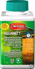 WOOD OIL CLENER OWATROL AQUANETT 1L - REMOVES TEAK AND OTHER OIL - BIODEGRADABLE