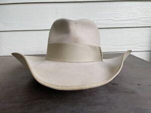 10X Beaver Clint Eastwood John Wayne Vintage Cowboy Hat 7 5/8 Western Cavalry