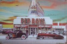 PEP BOYS Garage Retro Vintage Metal Tin Sign Rustic Look ..  AU SELLER
