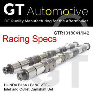 Racing Performance Camshaft Set Inlet & Exhaust Honda Civic B16A B18C VTEC