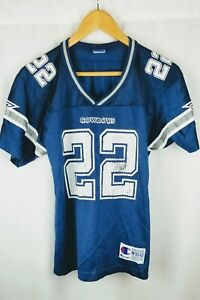 Champion Vtg 90s NFL Dallas Cowboys #22 Emmitt Smith Jersey M 10-12