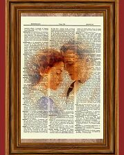 Titanic Jack and Rose Dictionary Art Print Poster Kate Ship Leonardo DiCaprio