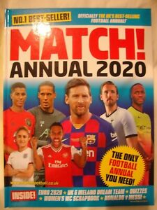 Match 2020 Annual - The UK's Best-Selling Football Annual - Brand New RRP £7.99