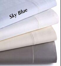 Hotel Collection 700Tc Microcotton Queen Tonal Stripe Flat Sheet, Sky Blu - Nwot