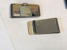 Wicker Handbag TG98 Fine English Pewter on a Money Clip Chrome