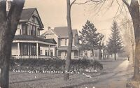 Strawberry Point Iowa~Commercial Street Homes~Big Porches~1910 Real Photo~RPPC