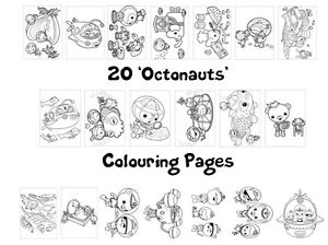 OCTONAUTS Colouring Pages - 20 Sheets - Perfect for Rainy Days & Holiday Craft!