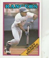FREE SHIPPING-MINT-1988 Topps Texas Rangers Baseball Card #139 Jerry Browne