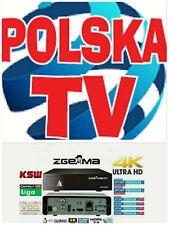 4K Polska telewizja dekoder+ rok abonamentu Zgemma h9 polsat&nc+mix 220 kanałów
