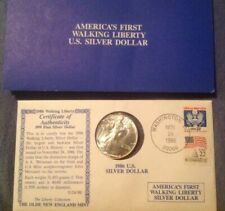 1986 Liberty Walking American Silver Eagle Dollar Coin Brilliant Uncirculated +