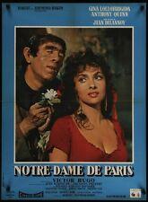 HUNCHBACK OF NOTRE DAME DE PARIS French movie poster GINA LOLLOBRIGIDA QUINN