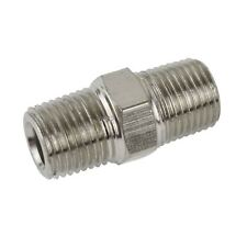 """1/8"""" BSP Male to Male Air Line Hose Compressor Fitting / Connector / Union FT0"""