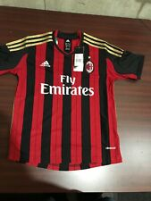 Adidas Fly emirates AC MILAN Soccer Jersey NWT Size Youth Boys Small UK 9-10Y