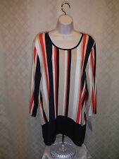 3/4 Sleeve Soft Blouses Croft & Barrow 2XL,XL,M,Multi Color Striped & other NWT