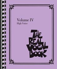 The Real Vocal Book Volume IV High Voice Real Book Fake Book NEW 000118318