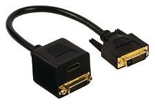 DVI adapter cable DVI-D 24+1pin male to DVI-D 24+1pin female & HDMI Female 0.20m