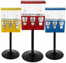 TRIPLE CHOICE Commercial Grade Sweet Vending Machine 20p Coin Operated - RED