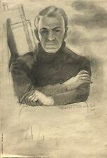 Self-Portrait in Turtle Neck Shirt-1964-August Mosca Self Portrait