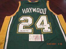 SPENCER HAYWOOD SONICS NBA CHAMP 1980,ABA MVP 1970,HOF 15 JSA/COA SIGNED JERSEY