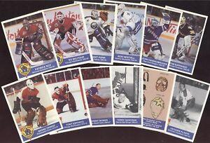 1993-94 HIGH LINER GREATEST GOALIES NHL HOCKEY CARD 1-15 SEE LIST