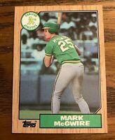 1987 Topps #366 Mark McGwire RC - A's