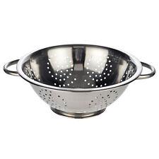 Küchensieb Abtropfsieb Edelstahl Sieb 28 cm Salat Seiher Nudel Sieb 2 Griffe Fuß