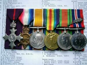 Casualty Hooge MBE WW1 WW2 MID medal group Squadron Leader Henshall RAF & Lanc R
