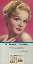 "VINTAGE ""IF IT'S GAY, IT'S OK"" 1940 GAY PINUP CALENDAR GAY PRODUCT CO ATLANTA GA"