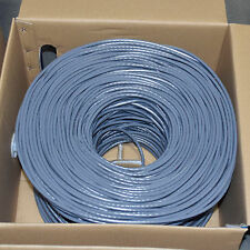 CAT6 1000FT UTP Cable Solid 23AWG 550MHz Network Ethernet Bulk Wire LAN GRAY