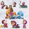 Masha & The Bear Cartoon Wall Stickers Vinyl Decal Kids Baby Nursery Room Decor