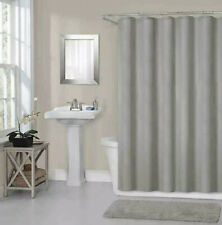 Titan 70-In x 72-In Waterproof Fabric Shower Curtain Liner in Grey Hotel Quality